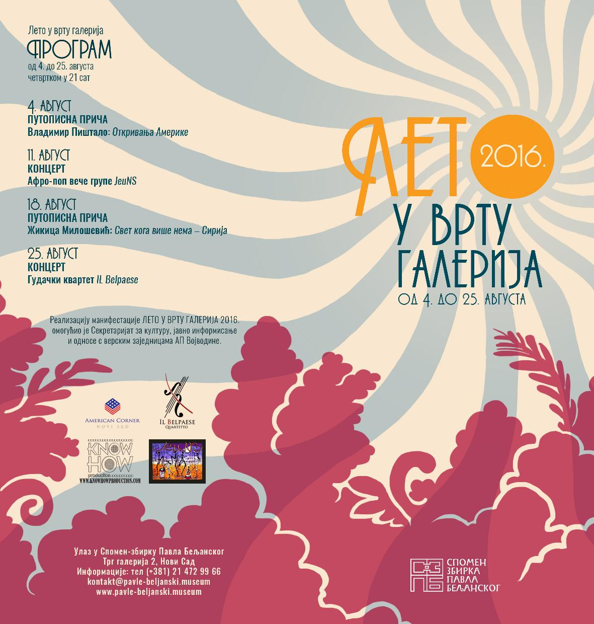 001 Leto u vrtu galerija - program